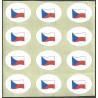 vlajka Česká republika, samolepka