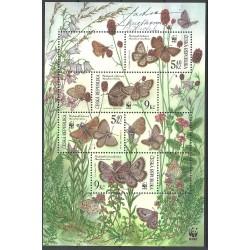 326/329,A, Ochrana přírody- ohrožení motýli /WWF/,**,