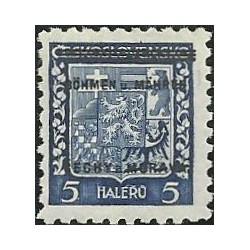 1.- Přetisk- střední státní znak,**,