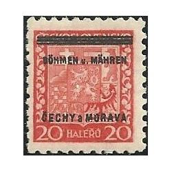 3.- Přetisk- střední státní znak,**,