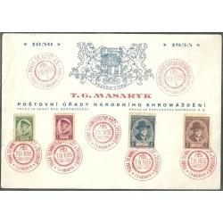 285- 288./4/, NL, 85. narozeniny T.G. Masaryka,-o,