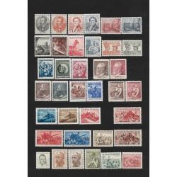 625- 699./73/,rz, ročník známek 1952,**,