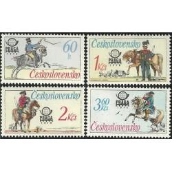 2253- 2256./4/, Historické poštovní stejnokroje,**,