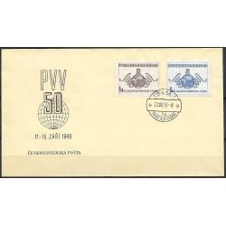 """519- 520./2/,FDC/1/, 50. jubilejní Pražský vzorkový veletrh,o"""","""