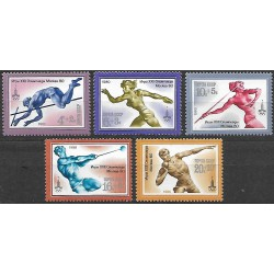 4932- 4936.Bl144 /6/, Olympijské letní hry- atletika,**,