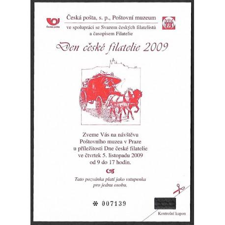PPM 5. Pozvánka Poštovního muzea v Praze 2009,