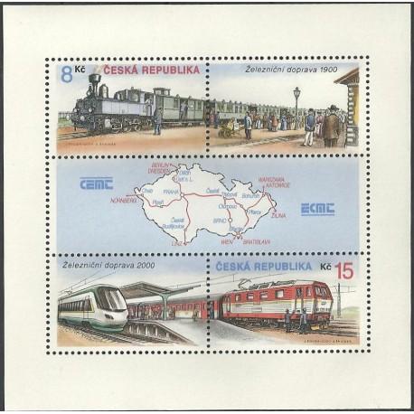 254/255.A, Doprava- železnice roku 1900 a roku 2000,**,