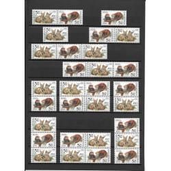 300- 303./4/,/60/,sestava Ochrana přírody - zvířata v ZOO,**,