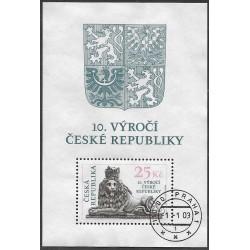 346.,A, 10. výročí České republiky,o,