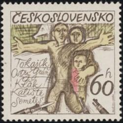 2127- 2129./3/, 30. výročí zničení českých a slovenských obcí za fašistické okupace,**,