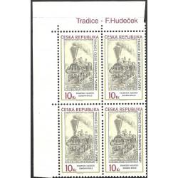 540.,čtbl, přítisk, Tradice známkové tvorby- F.Hudeček,**,